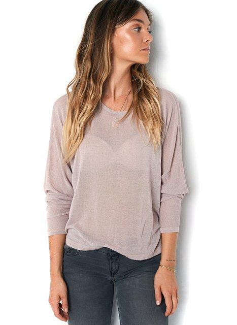 BLAUMAX Shirt Jill Linnen Nude | Artikelnummer:jill 5170