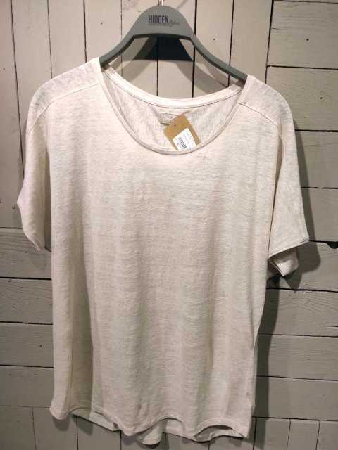 BLAUMAX T-shirt Over Linnen Cement | Artikelnummer:over 5260