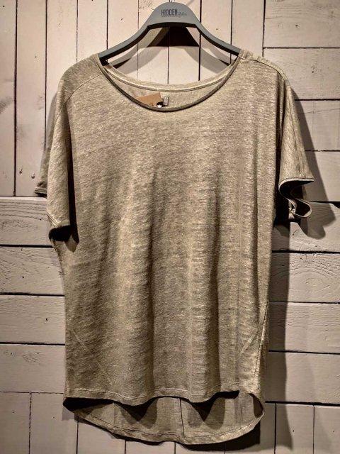 BLAUMAX T-shirt Over Linnen Light Olive | Artikelnummer:over 7050