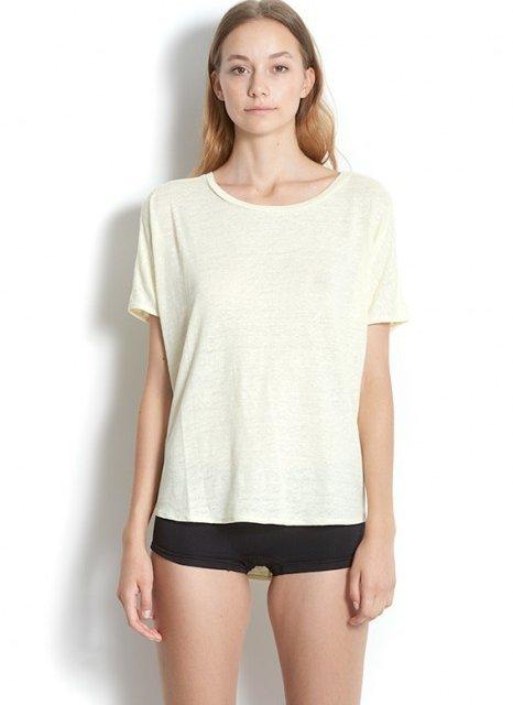 BLAUMAX T-shirt Over Linnen White | Artikelnummer:over 0