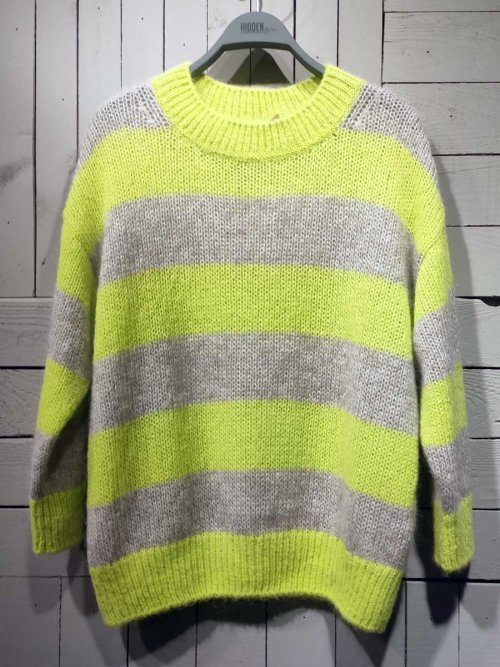CLOSED Trui Stripe Lemon Peel   Artikelnummer:C96022.98E.ST 463