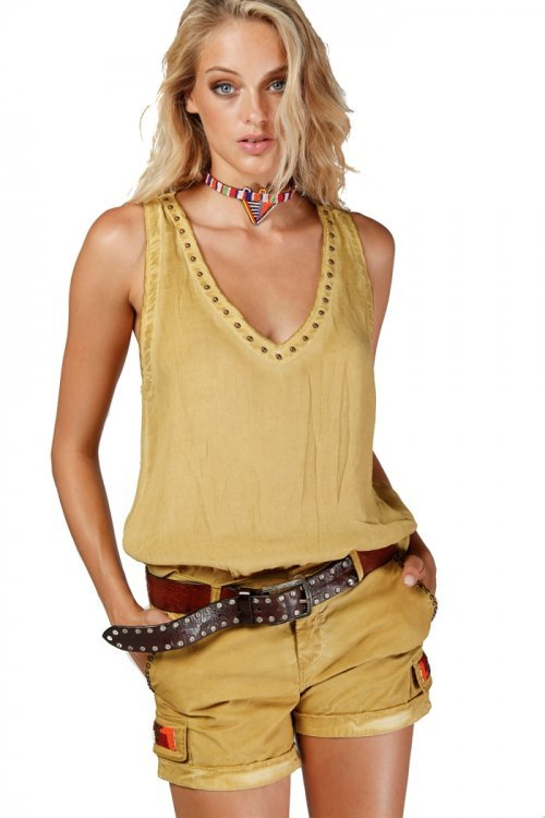 MASON'S Top Amanda Summer Senape   Artikelnummer:4CA3790B.VISB50 F840