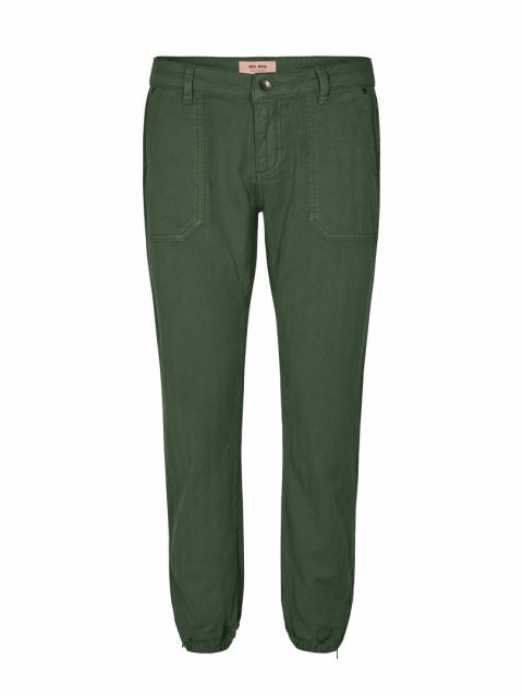 MOS MOSH Broek May Herringbone Union Green | Artikelnummer: 132681 527