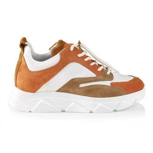 PAVEMENT Sneaker Portia Suede Orange Combo | Artikelnummer:19090.portia 449