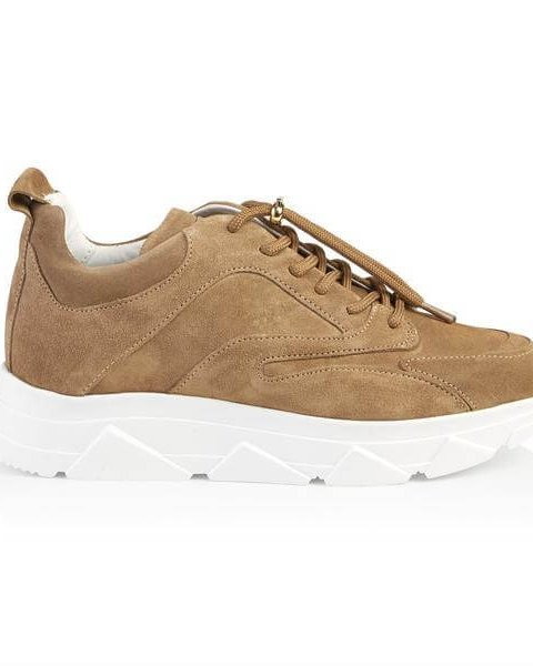 PAVEMENT Sneaker Portia Taupe Suede   Artikelnummer:19090.portia 174