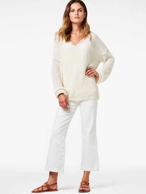 SIMPLE Trui Terese Offwhite | Artikelnummer:therese offwhite