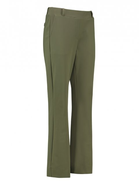 STUDIO ANNELOES Broek Flair Bonded Army Green | Artikelnummer: 4062 7700