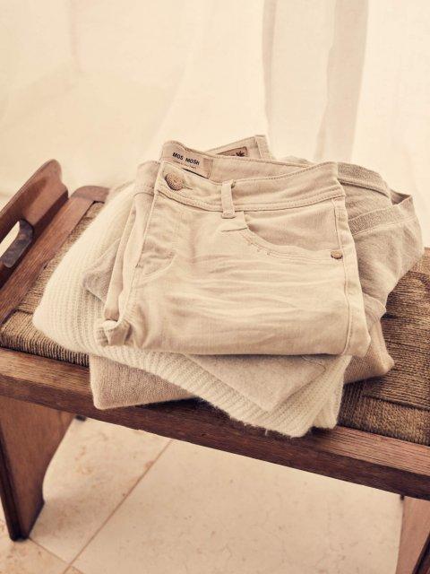 MOS MOSH Broek Cora G.D. Jeans Cropped Safari | Artikelnummer:133700 135