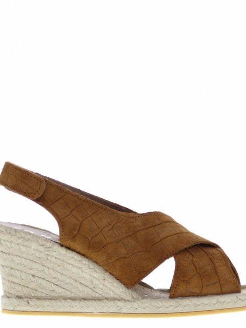 TANGO Espardille Vanessa Wedge Cognac | Artikelnummer:vanessa.2B 800