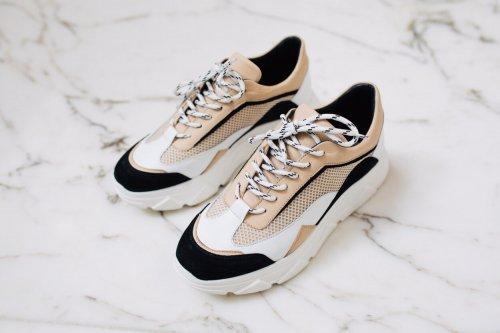 TANGO Sneaker Kady Fat Black/White/Beige | Artikelnummer:kadyfat.22b 102 3