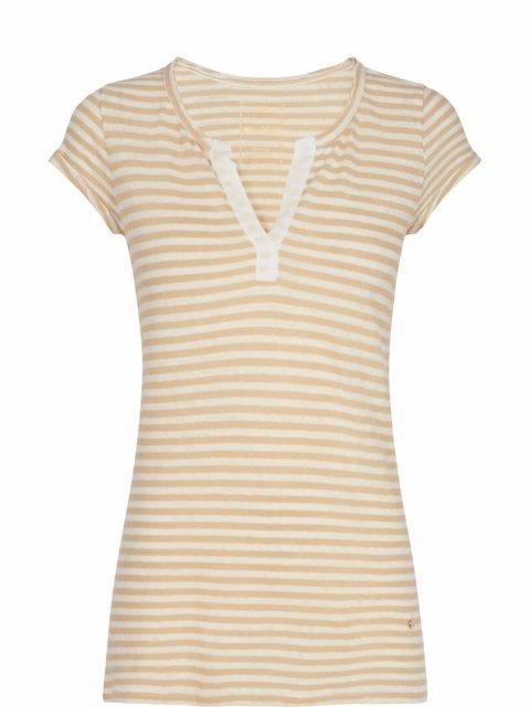 MOS-MOSH T-shirt-Troy-Stripe-Safari-Artikelnummer-131890-kleur-135