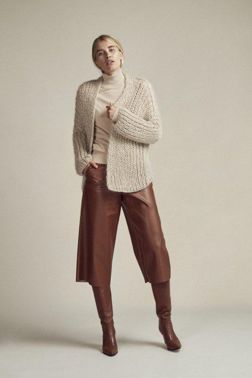 FEMMES du SUD Culotte Delphine Leather Look Cognac | Artikelnummer:delphine cognac