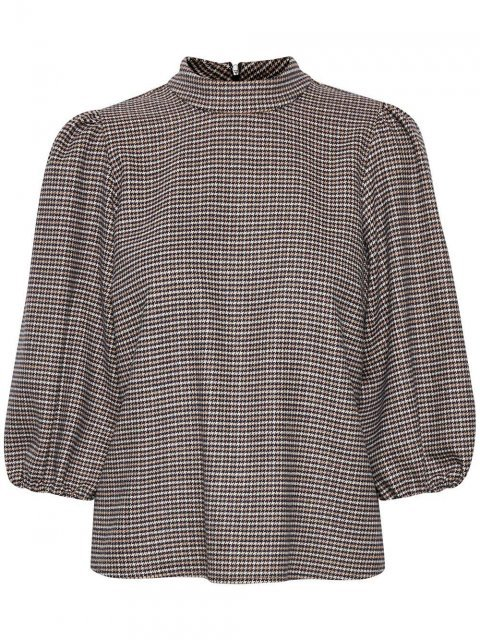GESTUZ Blouse Viv Brown Check | Artikelnummer: 10904775 100387