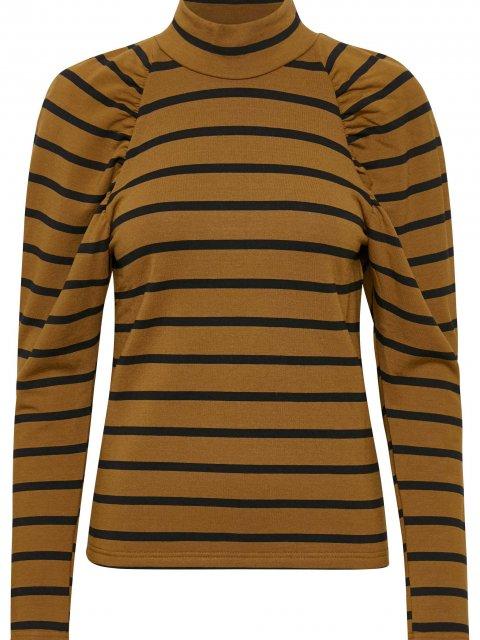 GESTUZ Koltrui Rifella Stripe Black Brown | Artikelnummer:10904820 100423