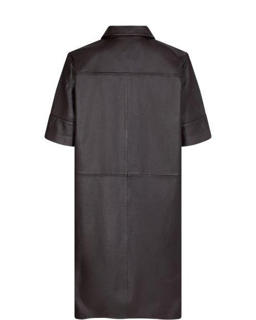MOS MOSH Jurk Leather Esther Molé Brown | Artikelnummer:134940 664