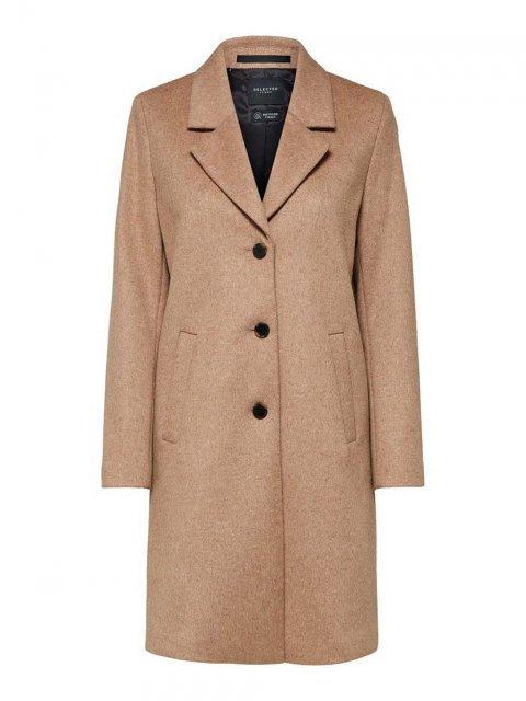 SELECTED FEMME Coat Wool Sasja Amphora Melange | Artikelnummer:16064571 amphora