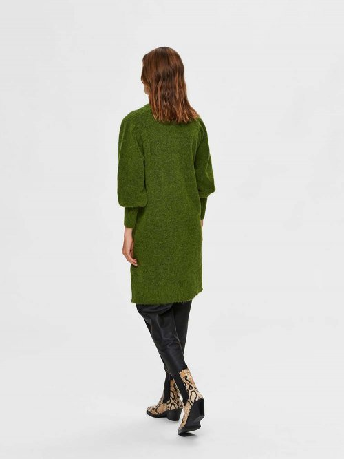 SELECTED FEMME Jurk Knitted Linna Twist of Lime | Artikelnummer: 16075569 t.o.lime 3