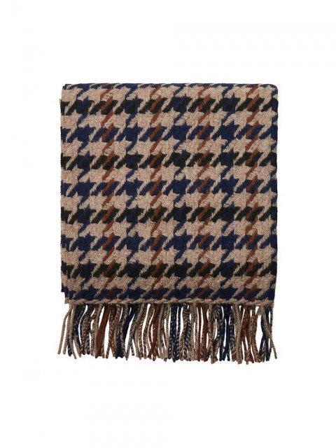 SELECTED FEMME Sjaal Time Wool Check Coffee Bean | Artikelnummer:16066780 coffeebean