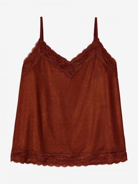 BELLAMY Top Lucy Red Brown | Artikelnummer: lucy redbrown
