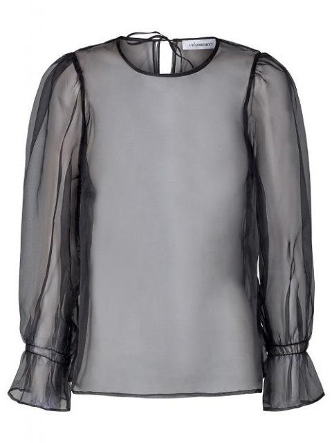 CO'COUTURE Blouse Toby Organza Black | Artikelnummer: 95476 96