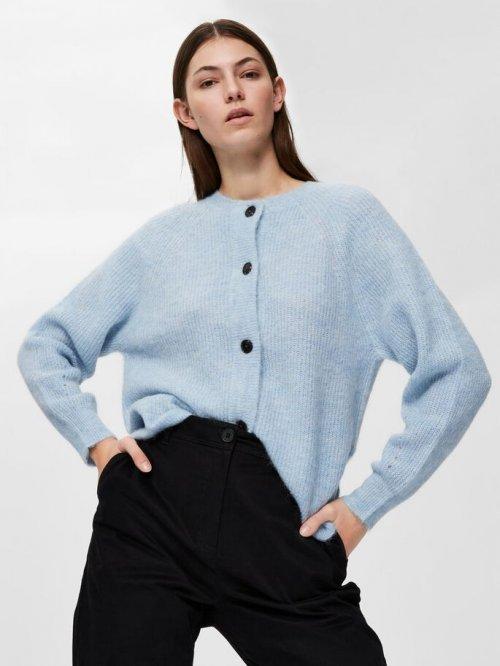 SELECTED FEMME Vest Lulu Cashmere Blue | Artikelnummer:16074481 blue 3