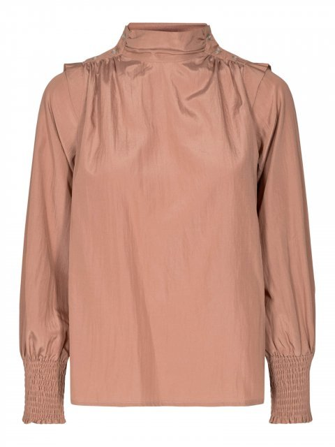 CO'COUTURE Blouse Keeva drape Nude Rose