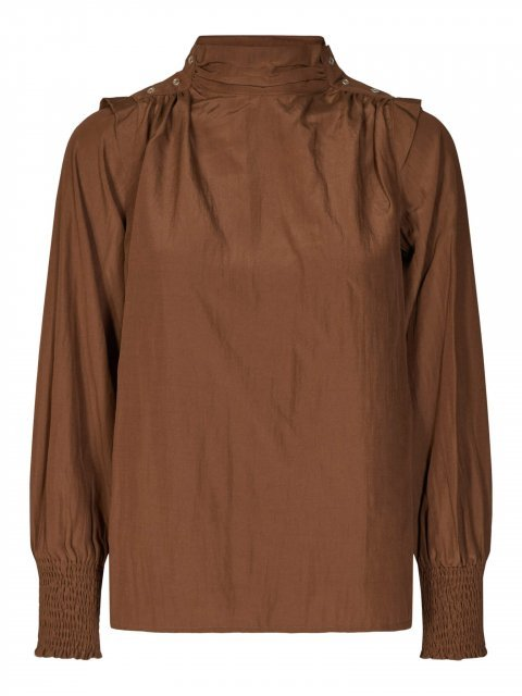 CO'COUTURE Blouse Keeva drape Walnut