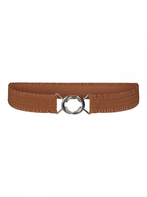 CO'COUTURE Riem Elastic Frill Walnut
