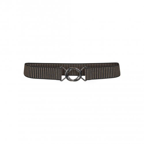 CO'COUTURE Riem Elastic Rist Black/Brown