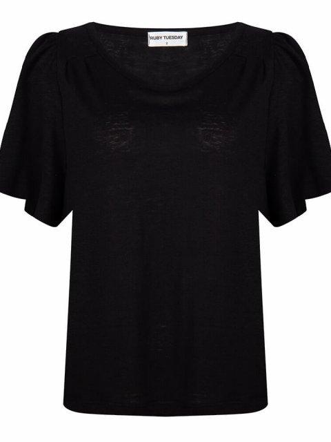 RUBY-TUESDAY-T-shirt-Tosca-Linnen-Jet-Black