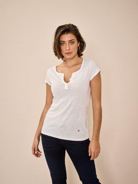 MOS MOSH T-shirt Troy White | Artikelnummer:117440.S21 101