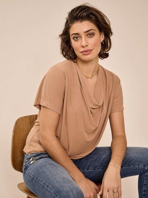 MOS MOSH T-shirt Savina Toasted Coconut | Artikelnummer:136370 675