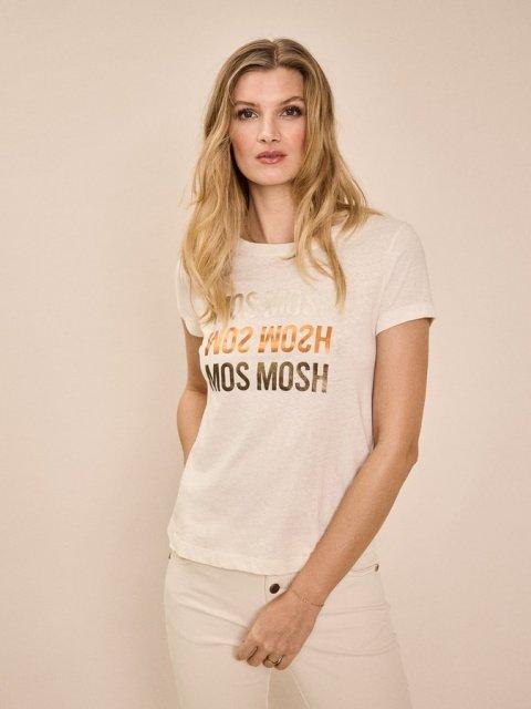 MOS MOSH T-shirt Mavis print Ecru | Artikelnummer:136400 180