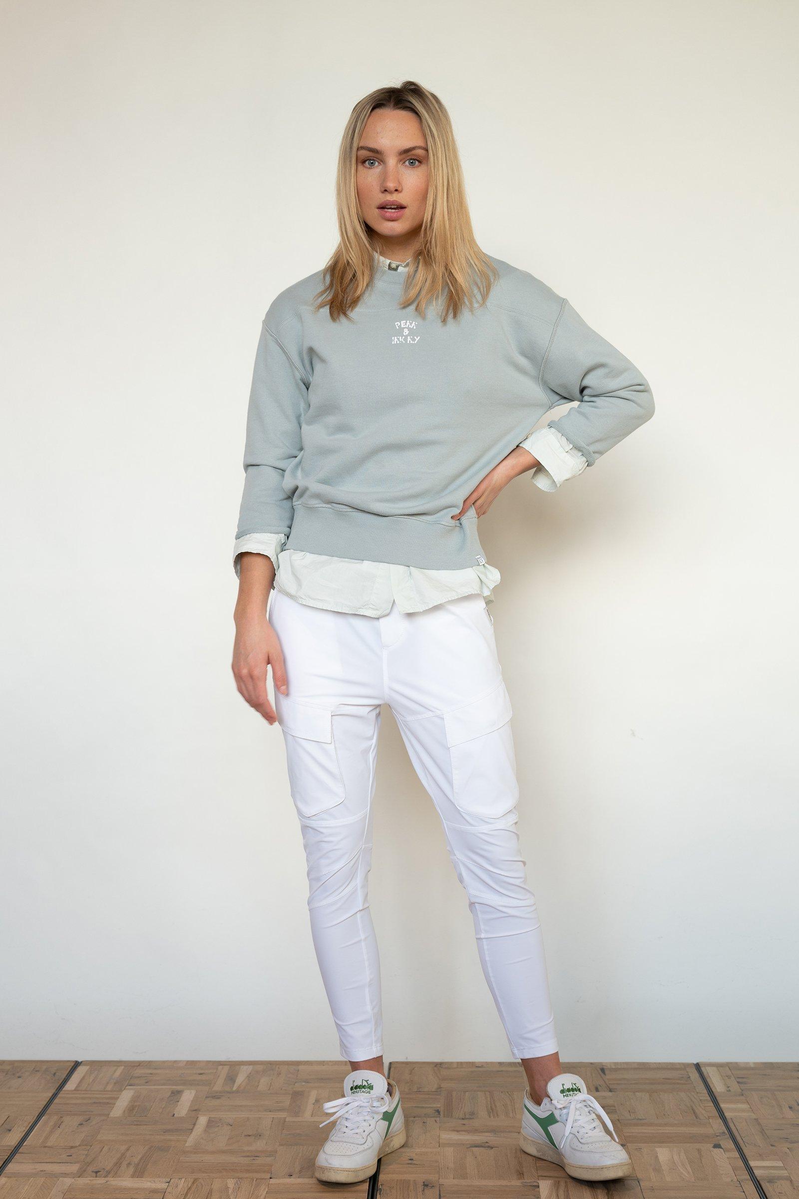 PENN-&-INK-Sweater-Print-Pigeon/White-S21T563-542