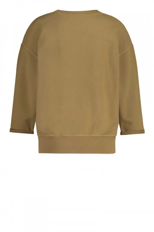 PENN-&-INK-Sweater-Print-Olive /White-S21T563-410/01