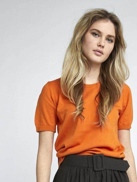 BELLAMY Trui k.m. Veerle Blood Orange | Artikelnummer:veerle bloodorange