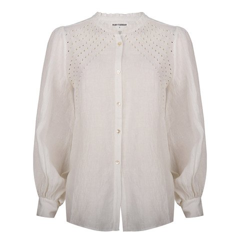 RUBY TUESDAY Blouse Isara Broderie Bright White | Artikelnummer: T102.1126 2