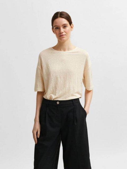 SELECTED FEMME T-shirt Fayoe Sandshell | Artikelnummer:16078307 sandshell
