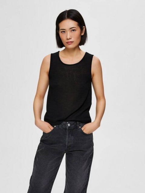 SELECTED FEMME Top Moon Knitted Black | Artikelnummer: 16073273.s21 black