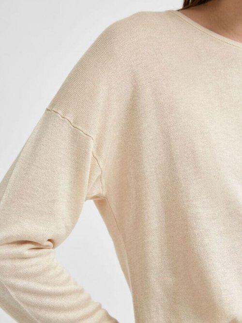 SELECTED FEMME Trui Malene Sandshell | Artikelnummer:16077274 sandshell