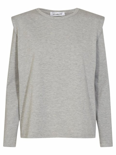 CO'COUTURE Shirt Eduarda Grey melange | Artikelnummer:93077 57