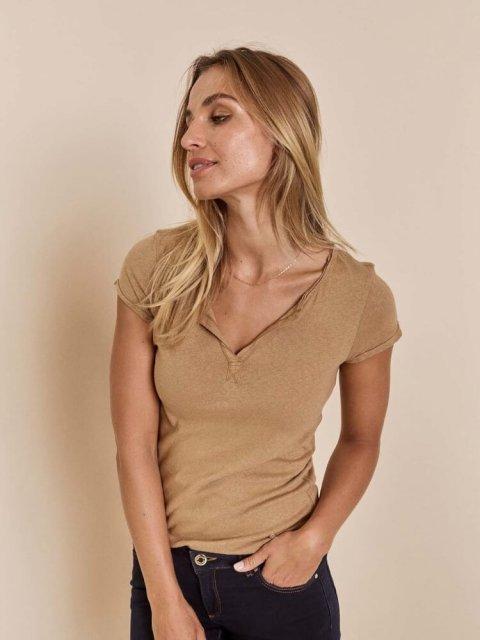MOS MOSH T-shirt Troy New Sand | Artikelnummer:117440 676