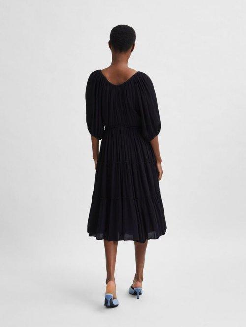 SELECTED FEMME Jurk Minora-Vienna Black | Artikelnummer:16079088 black
