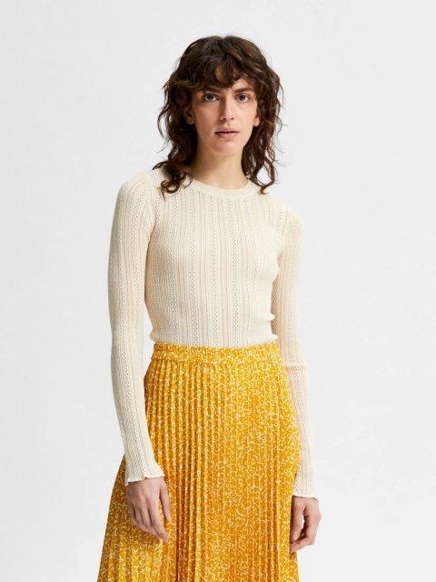 SELECTED FEMME Shirt Knit Donnay Sandshell | Artikelnummer:16079841 sandshell
