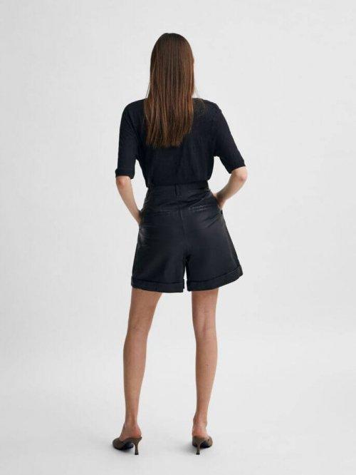 SELECTED FEMME T-shirt Linen Black | Artikelnummer:16079542 black