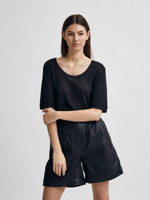 SELECTED FEMME T-shirt Linen Black   Artikelnummer:16079542 black