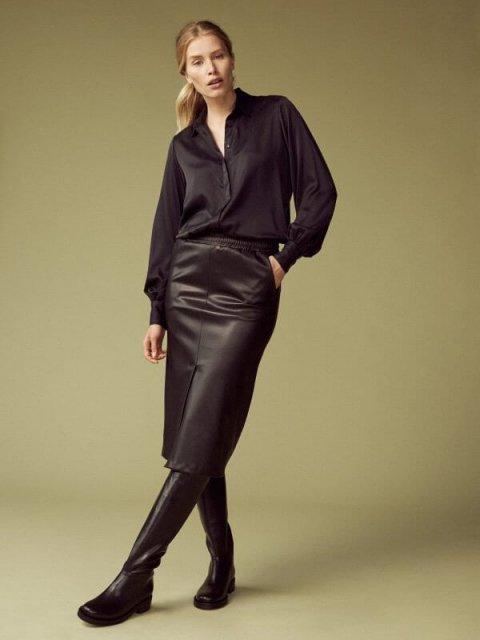 FEMMES du SUD Rok Ninette Vegan Leather | Artikelnummer:ninette black