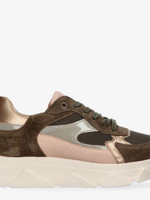 TANGO Sneaker Kady Fat Khaki/Nude | Artikelnummer:kady fat 23i 8000