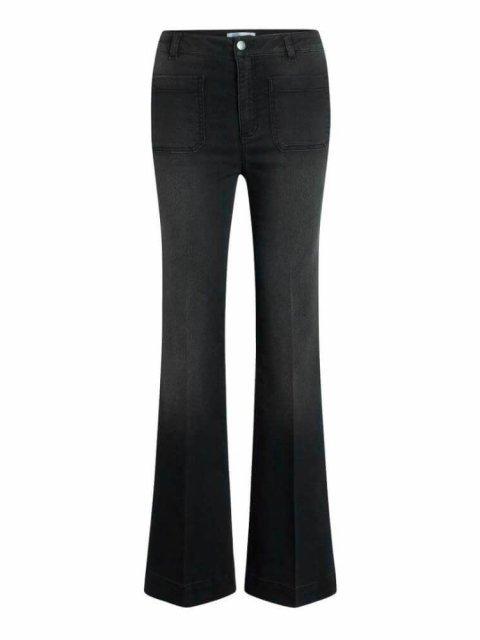 CO'COUTURE Broek Piper Denzel Flare Jeans Black | Artikelnummer:91246 96