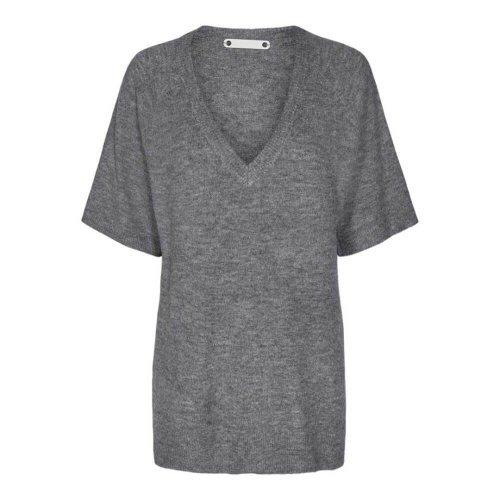 CO'COUTURE Trui V-hals Soul Grey Melange | Artikelnummer:92058 57